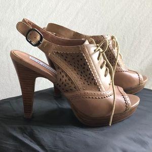 """Steve Madden 4"""" Lace Up Sling Back Heels  Size 6.5"""
